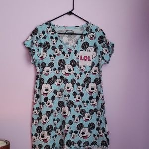 Mickey Mouse Laughing Blue Night Gown [Disney]